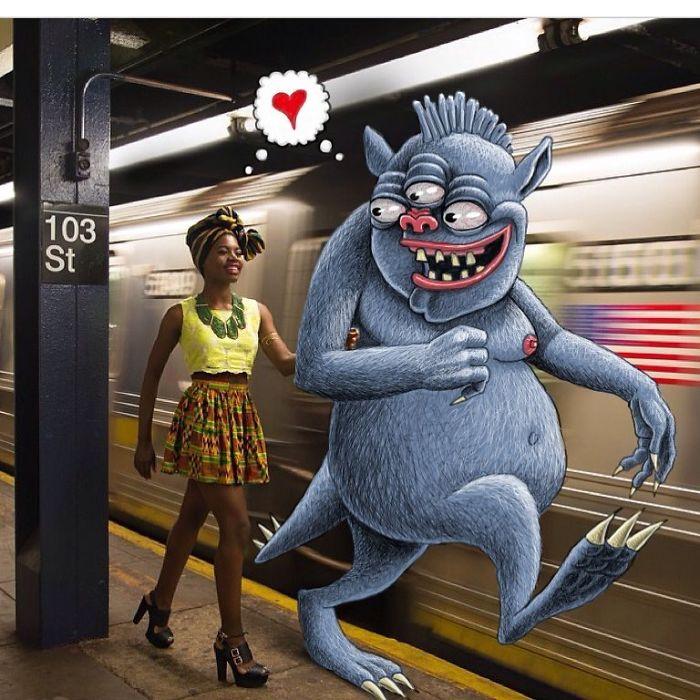 Monsters On The New York Subway In Ben Rubin's Imagination