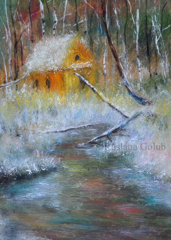 Winter Oil Paintings By Ruslana Golub