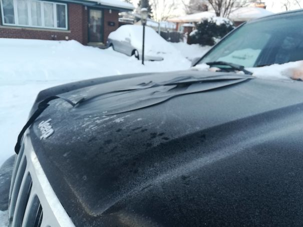 It Was So Cold In Chicago That The Paint Came Off My Car