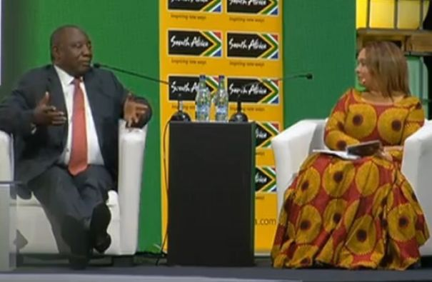 This Lady's Dress While Interviewing South Africa's President