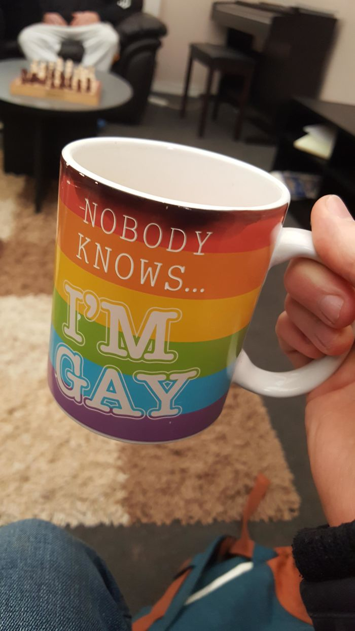 Was Given A Heat Sensitive Mug For A Work Meeting