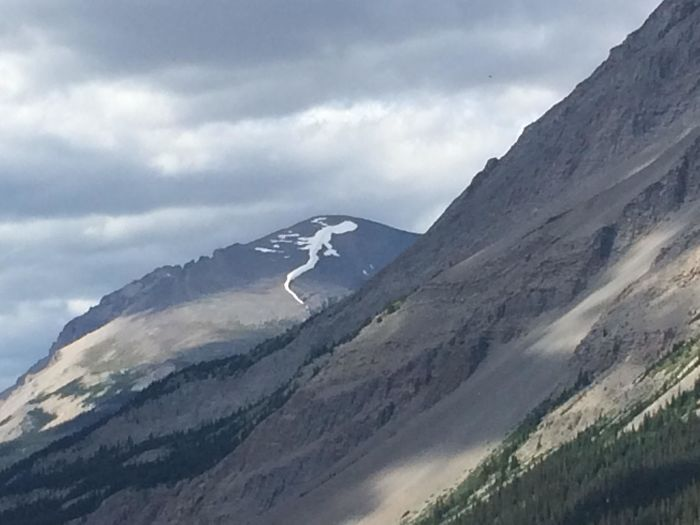 The Snow On Top Of This Mountain That Looks Like A Lizard