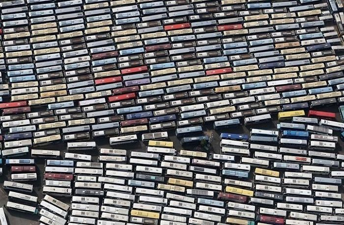 Busses Carrying Pilgrims In Mecca Look Like Cassette Tapes