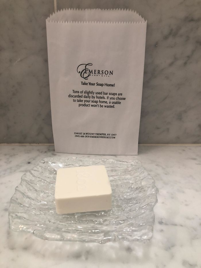 My Hotel Wants You To Take The Nice Soap Home!