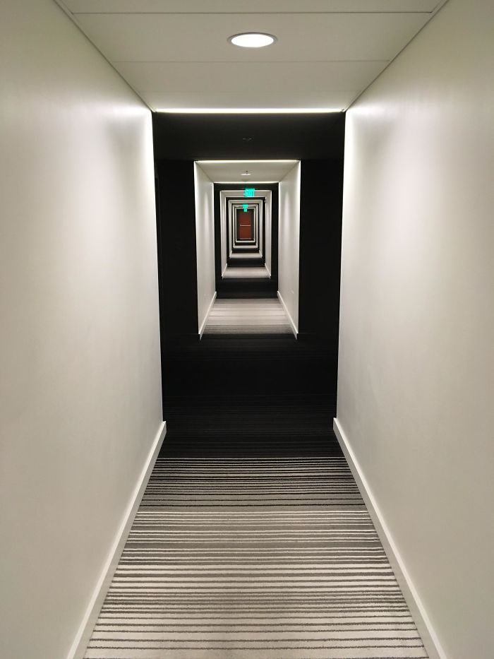 This Hotel's Carpet And Lighting Combo Produce A Really Trippy Effect
