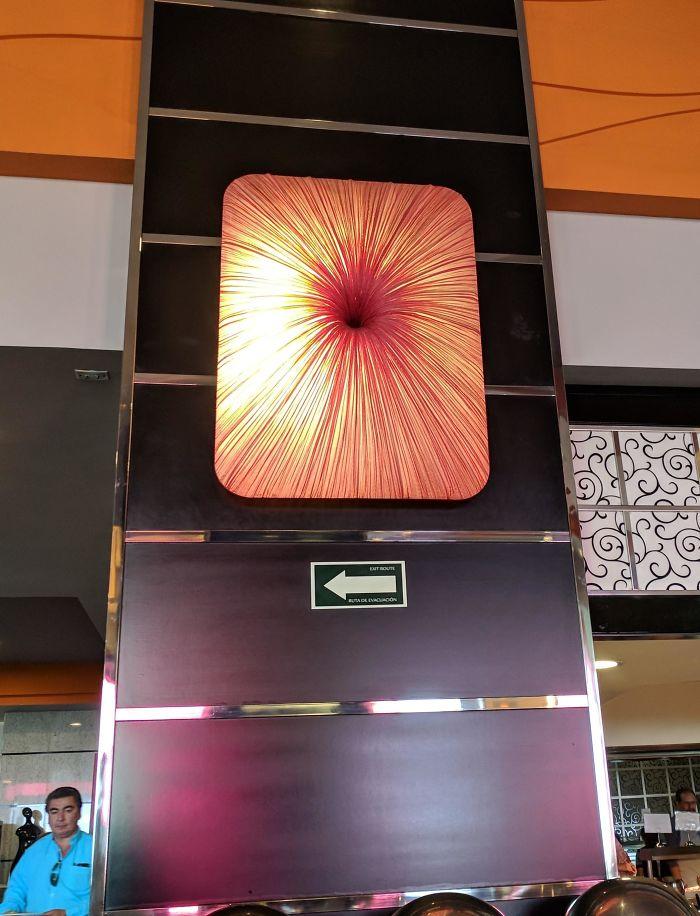 La decoración en el restaurante del hotel