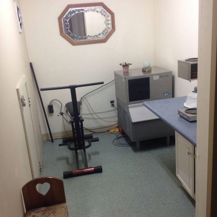 La web decía que el motel tenía un gimnasio