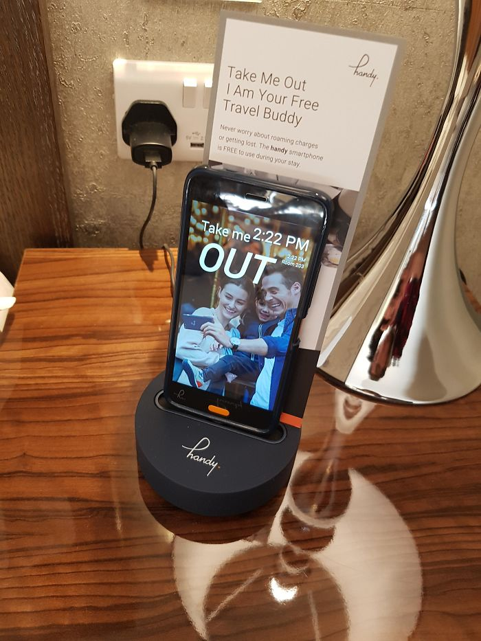 My Hotel Room Comes With A Complimentary Android Phone With Free Data And Calls