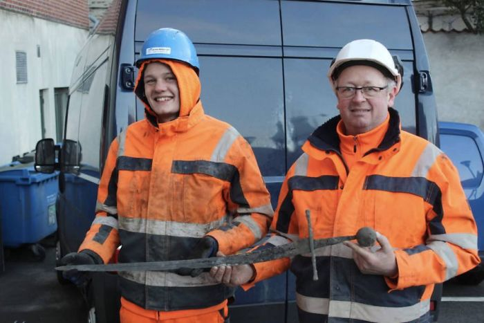 A Medieval Sword Was Found In A Danish Sewer And The Blade Is Still Intact
