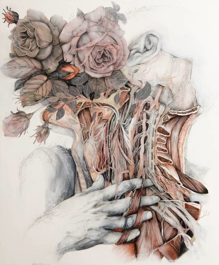 Artist Makes Flowers Bloom From Animal And Human Bodies And The