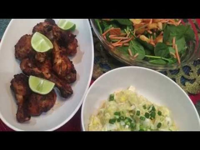 Bbq Tandoori Chicken With Salad At Home – Recipe