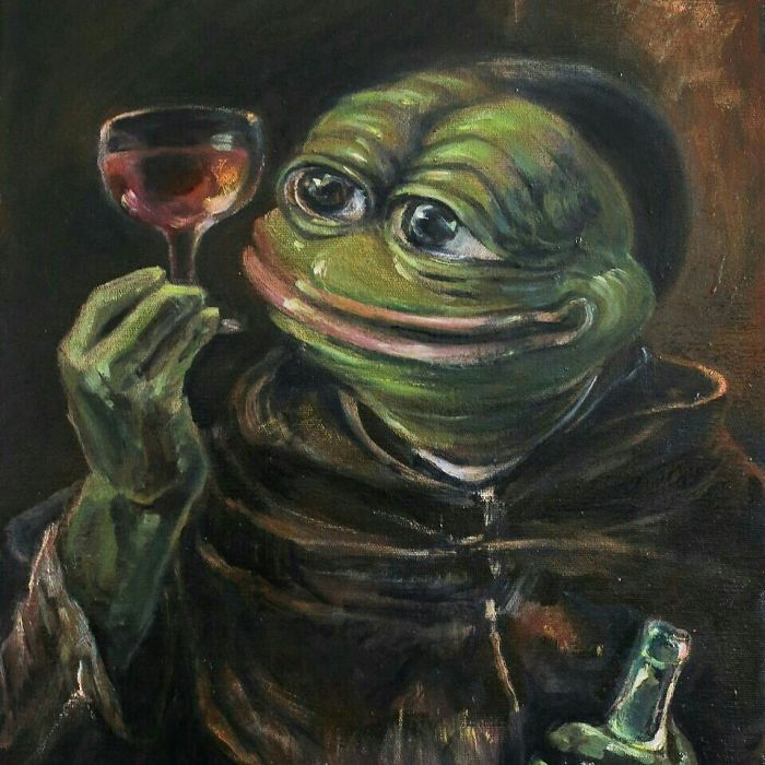 Pepe The Drinking Monk
