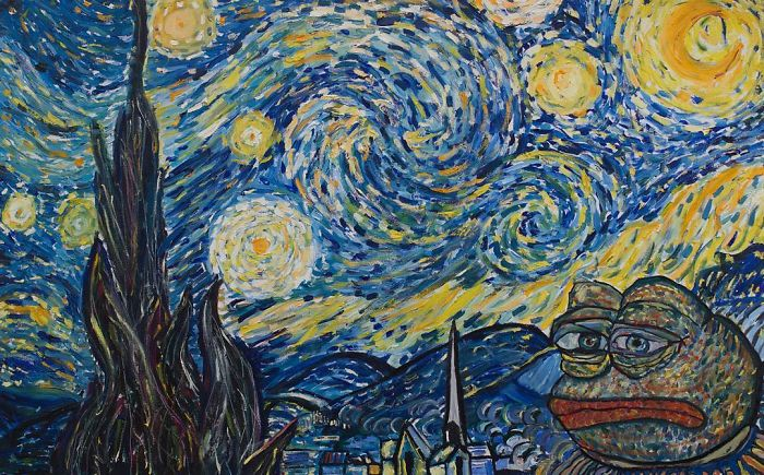 Pepe The Frog Starry Night