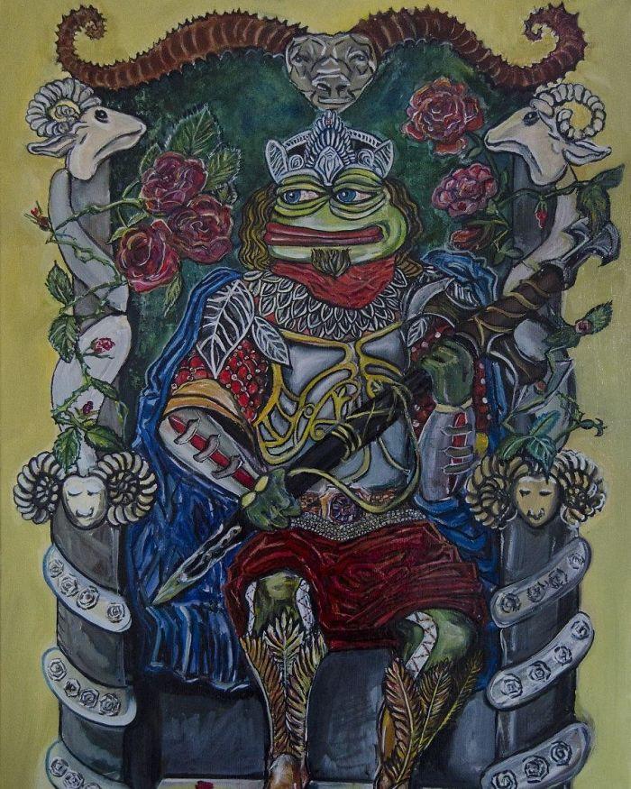 Pepe The Emperor - Taro Card