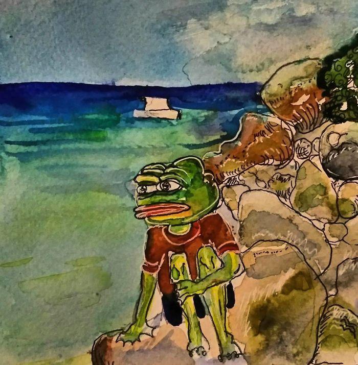 Pepe Painting