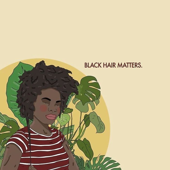 Afro Hair Is Not Unprofessional Or Untidy. No Matter Your Hair Type, Good Hair Is Healthy Hair. . .#recipesforselflove #support #love #kinkyhair #donttouchmyhair #bodypositive #4c #afro #blackhairmatters #blm #blackgirlmagic #selflove #selfcare #loveyourself  #youareperfect #effyourbeautystandards #feminism #femme #intersectionalfeminist #feminsta #feminist #zine #illustration #digital #drawing  #art #women #love #yourself