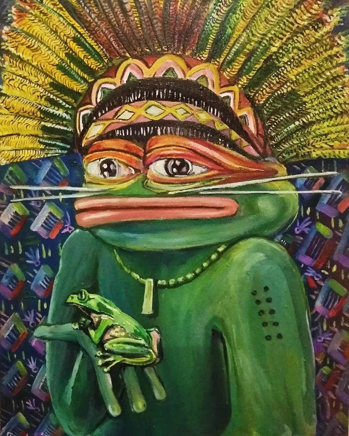 Pepe With Kambo Frog