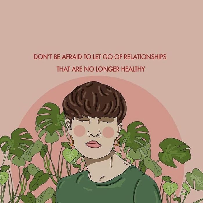 We All Grow And Change Over Time And So Do Our Relationships. Not Everyone Is Meant To Be In Your Life Forever. Friends Come And Go, Allow Them To, And Don't Be Afraid To Let Go Of Relationships (Platonic/Romantic) That Are No Longer Good For You. . . . . #recipesforselflove #friends #friendship #relationships #dontbeafraid #letgo #selflove #selfcare #loveyourself #smashthepatriarchy #youareperfect #fuckthepatriarchy #effyourbeautystandards #feminism #femme #instalove #feminsta #feminist #zine #illustration #digital #drawing #instagood #design #graphic #art #love #yourself