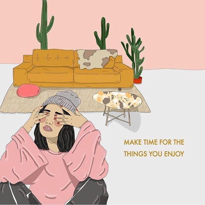 Life Can Be So Busy And Stressful At Times, It's Easy To Lose Sight Of Yourself And The Things You Enjoy. Try Set Time Aside For Your Hobbies And Side Projects, They're Important. . . #hobbies #recipesforselflove #support #love #positivity #bodypositive #allbodiesaregoodbodies #timeout #selflove #selfcare #loveyourself  #smashthepatriarchy #fuckthepatriarchy #effyourbeautystandards #feminism #instagood #instalove #intersectionalfeminist #feminsta #feminist #zine #illustration #digital #drawing #adobe #design #graphic #art #women #yourself