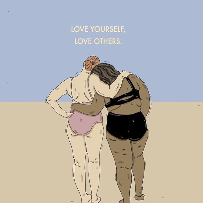 ❤. . . #recipesforselflove #support #love #positivity #bodypositive #lifestyle #allbodiesaregoodbodies #selflove #selfcare #loveyourself  #smashthepatriarchy  #youareperfect #instagood #fuckthepatriarchy #effyourbeautystandards #feminism #femme #intersectionalfeminist #feminsta #feminist #zine #illustration #digital #drawing #adobe #design #graphic #art #women #love #yourself