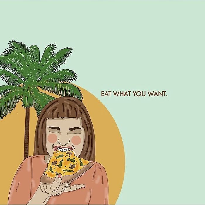 Women's Relationship With Food Is Notoriously Complex. Food And Eating Can Be A Cause Of Trauma For So Many Women. Paying Too Much Attention To Food And Eating, Albeit When Trying To Be 'Healthy', Can Be Triggering For Even The Most Body Positive Person. Building A Better Relationship With Food Is A Difficult And Ongoing Journey Especially When Constantly Being Bombarded With External Pressure And Internal Guilt. Although Difficult And Ongoing, This Journey Is One That Is Most Definitely Worth The Effort. Love Your Body, Love Your Food, It's Fuel To Keep You Being The Amazing Person That You Are! . . . #recipesforselflove #beyourself #food #eating #eatingdisorder #recovery #allbodiesaregoodbodies #selflove #selfcare #loveyourself #smashthepatriarchy #youareperfect #fuckthepatriarchy #edrecovery #effyourbeautystandards #feminism #lifestyle #instagood #feminsta #feminist #zine #illustration #digital #drawing #design #graphic #art #instalove #love #yourself