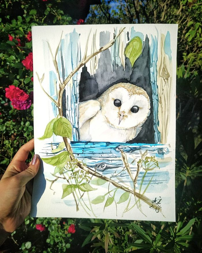 I Paint Tiny, Cute Owls On A Daily Basis And Can't Stop (17 Illos)