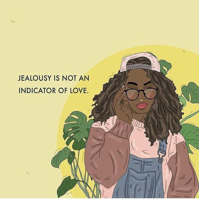 We Pick Up A Lot Of Toxic Habits From Heteronormativity, For Example The Idea That Jealousy Is An Indication Of Love Or Conflict Is A Sign Of Passion. The Media Perpetuates These Conceptions And They're Pretty Dangerous. . . #recipesforselflove #love #positivity #bodypositive  #allbodiesaregoodbodies #selflove #selfcare #loveyourself #smashthepatriarchy  #youareperfect #fuckthepatriarchy #lifestyle #effyourbeautystandards #feminism #instagood #jealous #feminsta #feminist #zine #illustration #digital #drawing #adobe #design #graphic #art #instalove #yourself #healing #beautiful
