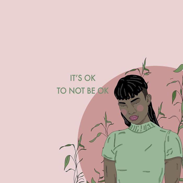 It's Totally Fine To Admit You're Not Ok ❤. . . . . . #recipesforselflove #ibelieveher #quotes #strength #support #believesurvivors #protect  #survivor #selflove #selfcare #loveyourself  #life #smashthepatriarchy #fuckthepatriarchy #effyourbeautystandards #feminism  #strength #instagood #feminsta #feminist #zine #illustration #digital #ok #anger #graphic #art #love