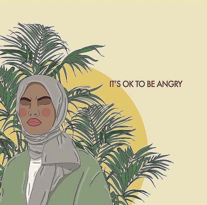 You Don't Need To Censor Yourself, And You Certainly Don't Need Anyone Else To Censor You. You're Allowed To Be Angry, There Is A Lot To Be Angry About. Express Your Anger How You See Fit. . . . . . #recipesforselflove #anger #angry #support #love #blm #bodypositive #rage #selflove #selfcare #loveyourself #smashthepatriarchy  #youareperfect #hijabi #instagood #hijab #fuckthepatriarchy #effyourbeautystandards #feminism #lifestyle #niceforwhat #feminsta #feminist #zine #illustration #drawing #graphic #art #instalove