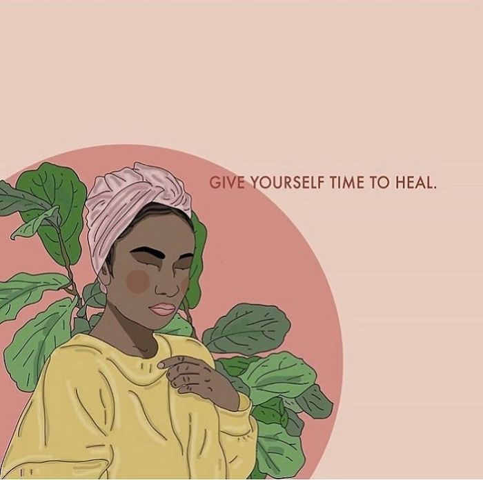 Be Patient With Yourself. Love Yourself Through The Process. . . . . . #recipesforselflove #beyourself #patience #kindness #heal #healing #process #selflove #selfcare #loveyourself #smashthepatriarchy  #youareperfect #fuckthepatriarchy #effyourbeautystandards #feminism #lifestyle #instagood #feminsta #feminist #zine #illustration #digital #drawing #adobe #design #graphic #art #instalove #love #yourself