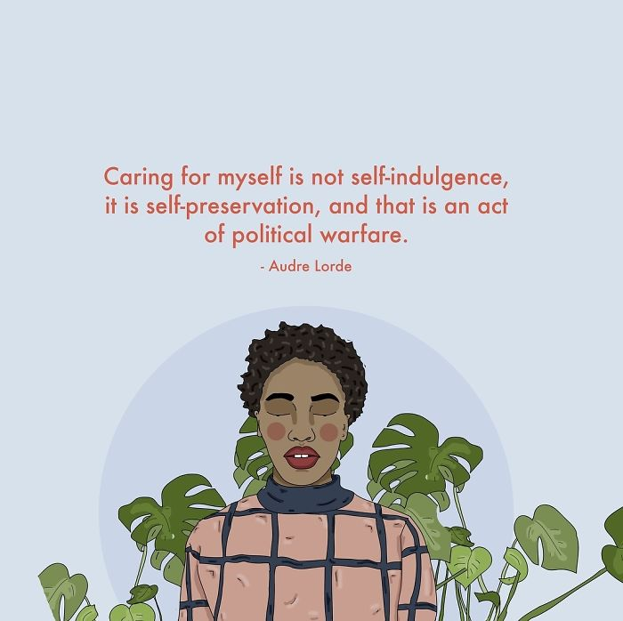 Caring For Yourself Is Political. . . . . . #recipesforselflove #selfpreservation #audrelorde #quote #political #bodypositive #bodypositivity #instalove #selflove #selfcare #loveyourself  #smashthepatriarchy #youareperfect #effyourbeautystandards #feminism #instagood #lifestyle #feminsta #feminist #zine #illustration #digital #drawing #design #graphic #art #love #yourself