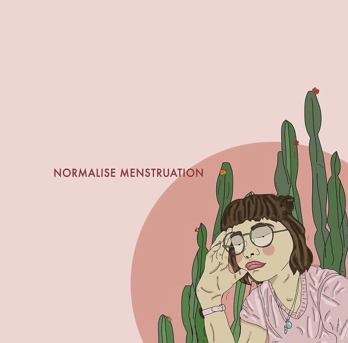 Lots Of People Get Periods, Some Women And Girls, Some Trans Men And Boys, Some Gender Non Conforming People. That's A Lot Of People, Let's Break The Stigma Surrounding Menstruation. Let's Talk About It More. Let's Normalise It. . . . #recipesforselflove #menstruation #period #periodpositive #blood #bodypositive #bodypositivity #instalove #selflove #selfcare #loveyourself  #smashthepatriarchy #youareperfect #effyourbeautystandards #feminism #instagood #lifestyle #feminsta #feminist #zine #illustration #digital #drawing #design #graphic #art #love #yourself