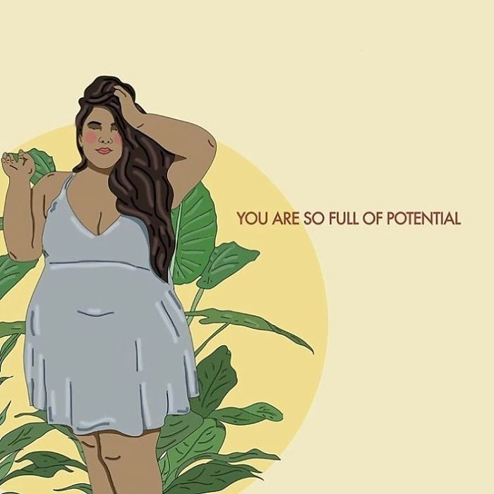 It's True! You Are Powerful Beyond Belief And Bursting With Potential. Don't Forget It! . . . . . #recipesforselflove #potential #love #future #happiness #bodypositive #amazing #lifestyle #selflove #selfcare #loveyourself  #smashthepatriarchy  #youareperfect #fuckthepatriarchy #effyourbeautystandards #feminism #instagood #believe #lifestyle #feminsta #feminist #zine #illustration #digital #drawing #adobe #design #graphic #art #instalove #yourself