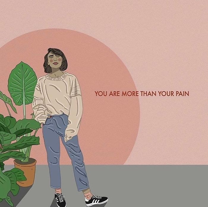 It May Be A Part Of You But Your Pain Does Not Define You. . . . . . #recipesforselflove #support #love #life #bodypositive #pain #real #selflove #selfcare #loveyourself #smashthepatriarchy #youareperfect #lifestyle #fuckthepatriarchy #effyourbeautystandards #feminism #lifestyle #instagood #feminsta #feminist #zine #illustration #digital #drawing #adobe #design #graphic #art #instalove #yourself