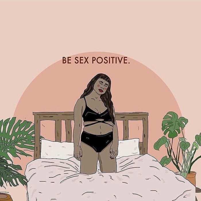 Sex Is A Beautiful Way To Explore Human Connection, Intimacy, Vulnerability, And Pleasure. Sex Positivity Is About Helping People Be Totally Happy With Their Sex Lives Whatever That May Look Like. Sex Positivity Is About Encouraging People To Embrace Who They Are, What They're Into And To Explore In A Safe, Consensual, Fun And Shame Free Way. @sexeducation @netflixuk . . . #sexeducation #netflixuk #netflix #sex #sexpositivity #consent #recipesforselflove #pleasure #love #feminism #feminist #illustration #drawing #graphic #quotes #instalove #instagood