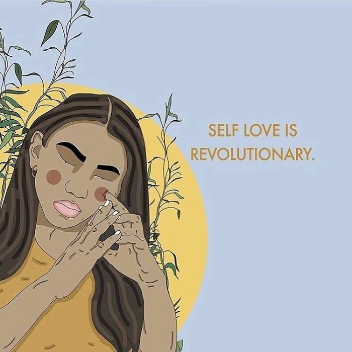 When You Love Yourself You Are Exercising Independent Thought, You Are Actively Rejecting Society's Pressure On You To Hate Parts Of Yourself. Self Love Is Revolutionary, Self Love Is Political. . . . . .#recipesforselflove #revolutionary #political #bodypositivity #instalove #selflove #selfcare #loveyourself #smashthepatriarchy #revolution #youareperfect #fuckthepatriarchy #effyourbeautystandards #feminism #lifestyle #instashare #feminsta #feminist #zine #illustration #digital #drawing #adobe #design #graphic #art #instagood #love #yourself
