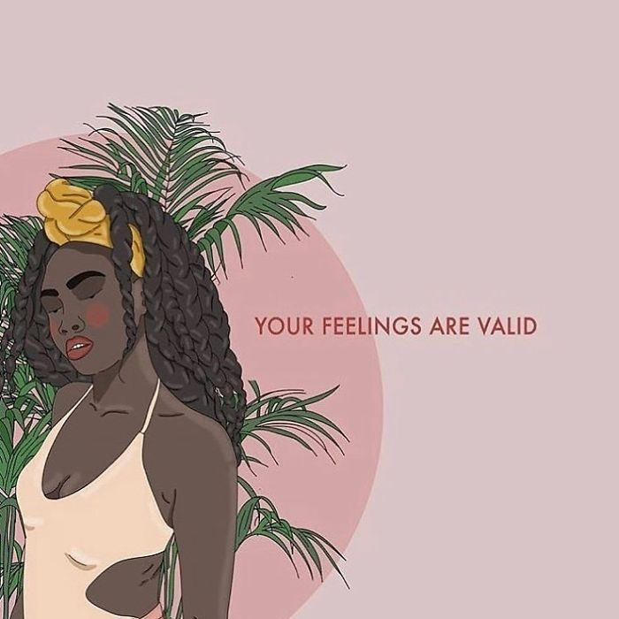 Your Feelings Are Valid, Absolutely All Of Them. Especially The Negative Ones, Feel Them Fully, Process Them And Then Let Them Go. . . . . . #recipesforselflove #support #love #quotes #instagood #feelings #strength #selflove #selfcare #loveyourself  #smashthepatriarchy  #youareperfect #fuckthepatriarchy #effyourbeautystandards #feminism #lifestyle #instagood #feminsta #feminist #zine #illustration #digital #drawing #adobe #design #graphic #art #instalove #yourself
