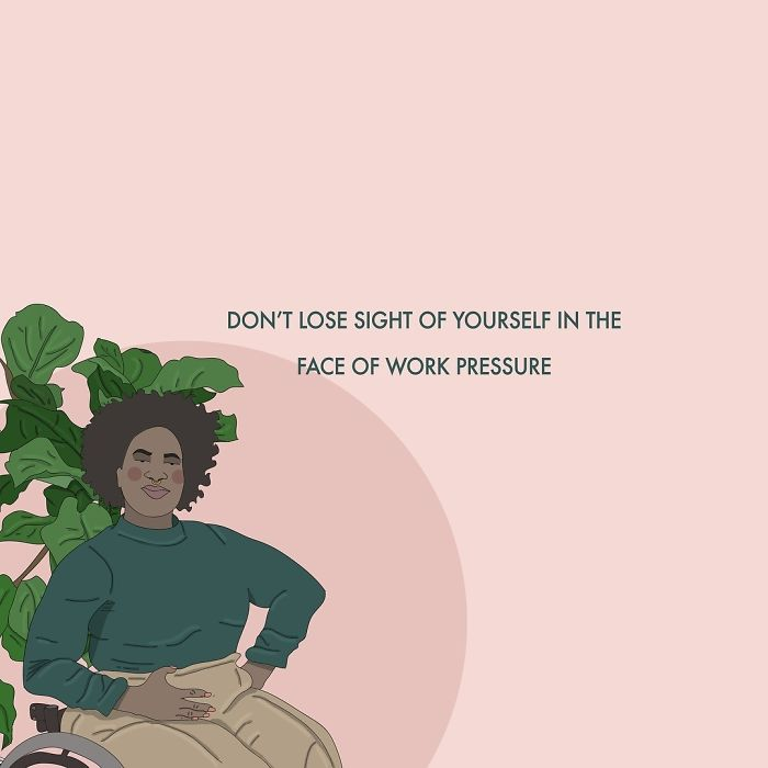 Don't Sacrifice Too Much For Your Job, Don't Lose Sight Of Yourself And Your Worth In The Face Of Pressure From Work. You Are Replaceable In Any Position, Remember That No Job Is Worth Damaging Your Physical, Mental Health, Valuable Relationships And Happiness. Capitalism Doesn't Care For Us, It's Just Not Worth It. . . . #recipesforselflove #support #job #capitalism #bodypositive #work #selflove #selfcare #loveyourself #smashthepatriarchy #youareperfect #fuckthepatriarchy #effyourbeautystandards #feminism #lifestyle #instagood #feminsta #feminist #zine #illustration #digital #drawing #adobe #design #graphic #art #quotes #yourself