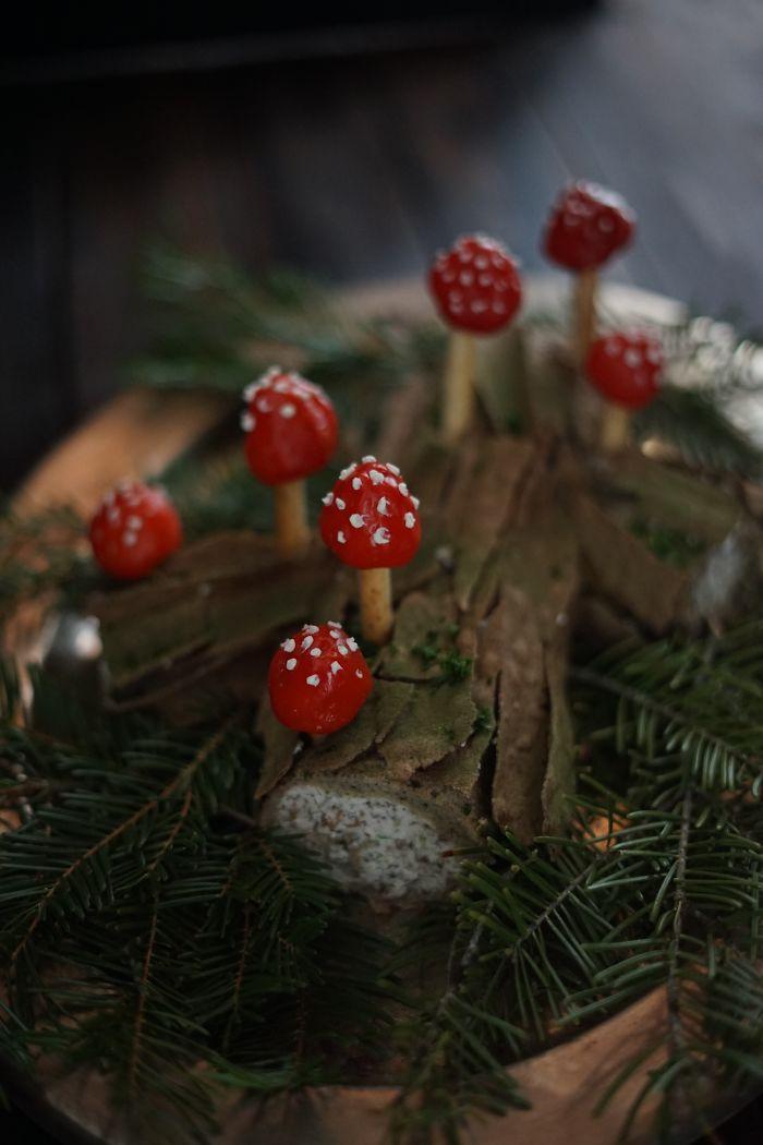Wild Mushroom Savory Buche De Noel
