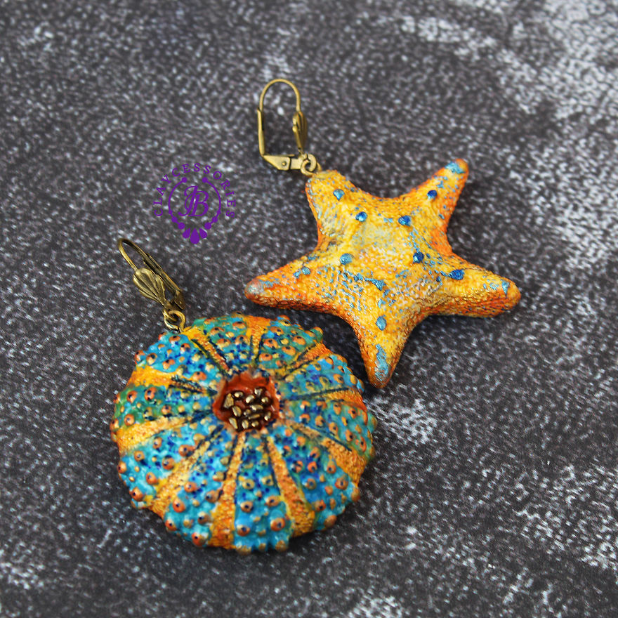 Colorful Seashells From Polymer Clay