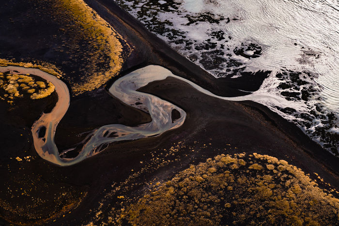 Paintings Flew By As I Flew Above Iceland.