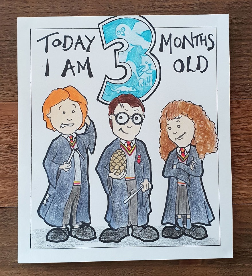 My Husband Created Charming Illustrations For Our Children's Milestone Cards