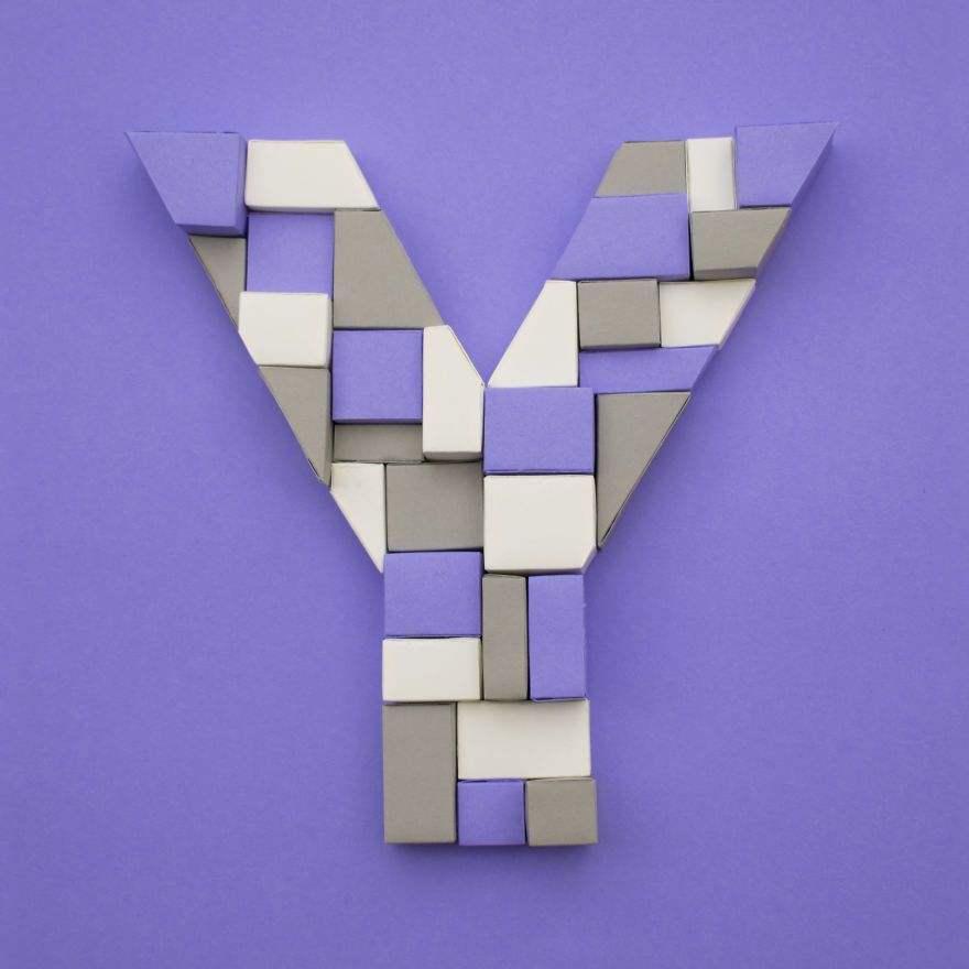 26 Artists Were Challenged To Create The Whole Alphabet, One Unique Paper Letter Each