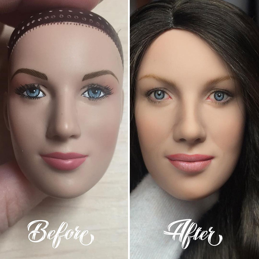 Ukrainian Artist Continues To Remove The Makeup Of Dolls And Re-Creates Them With An Incredibly Real Look