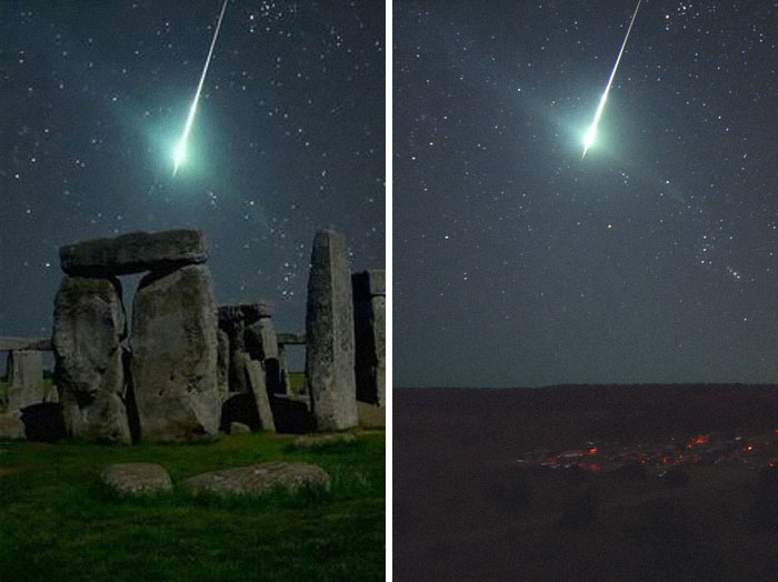 A Meteor Over Stonehenge