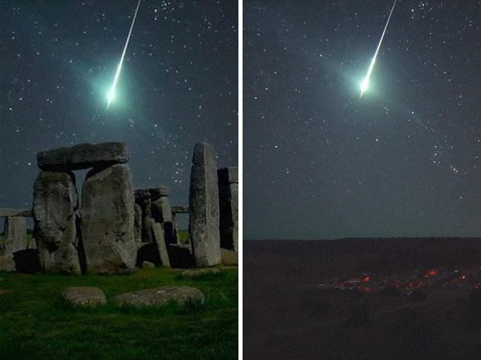 A Meteor Over Stonehenge