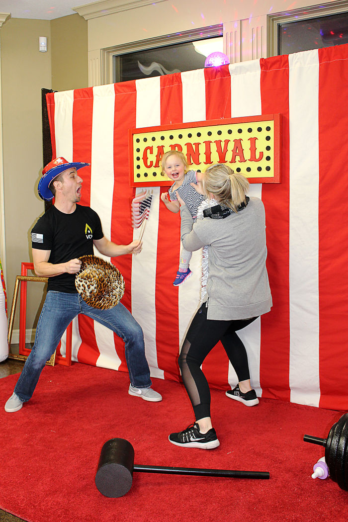 We Created A Circus Carnival Red Carpet Photo Booth Setup For A New Years Eve Party. Fun!
