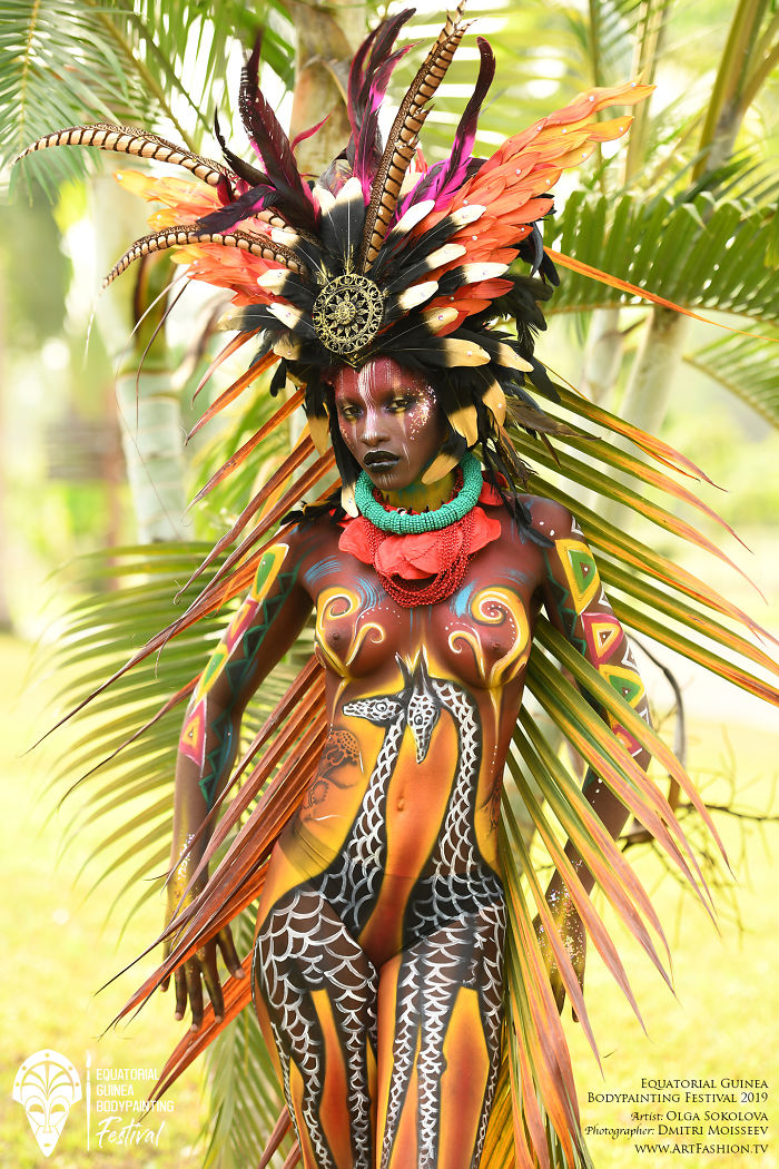 First Equatorial Guinea Bodypainting Festival Amazes The World With Spectacular Living Artworks
