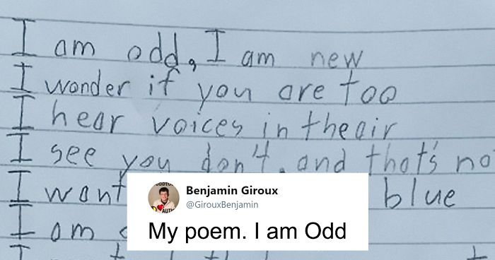 Autistic Boy Writes Moving Poem About How Odd He Is For A