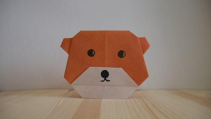 Origami. How To Make A Bear Out Of Paper (Video Lesson)